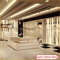 Quality High end modern design white clothing store display racks,clothes display stand for shop wholesale