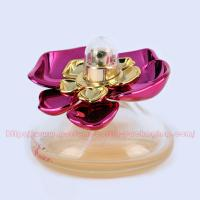 Buy cheap 30ml Cone Glass (bottom colored) Perfume Bottle Packaging with UV Plastic Cap and FEA 15mm gold Perfume Pump/collar product