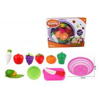 Quality 12 Pcs Pretend Role Play Children's Play Toys for Kitchen Fruit Vegetable Cutting wholesale
