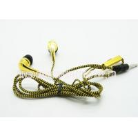 China Activate Voice Control 3.5 Mm In Ear Gold Plating Plastic Flatline Fabric Material on sale