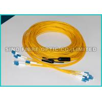 Quality LC - LC 24 Strands Pre Terminated Fiber Optic Cable Single Mode 2.0mm Plenum Rated wholesale