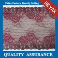 Double color embroidered flower voile elastic narrow lace trimming fabric for underwear