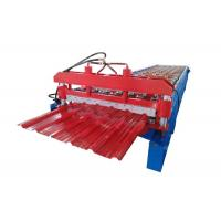 China PPGI Steel Sheet Metal Roll Forming Machines / Roll Former Machine With Cr12 Cutter on sale
