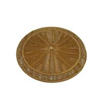 Quality Handmade Round Poly Rattan Mat / Natural Placemats For Baskery wholesale