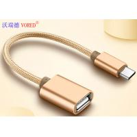 Cheap USB To Type C Micro USB Data Transfer Cable , OTG Mobile Phone USB Cable for sale