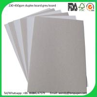 China In roll 787*1092mm white coated duplex paper board 300gsm grey back on sale