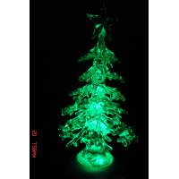 Quality Green Tree Personalised Christmas Decorations with LED Changing Light wholesale