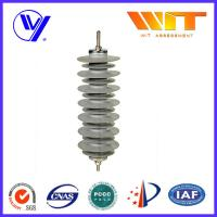China 36KV 10KA Polymeric Housed Metal Oxide Lightning Arrester , Thunder Zinc Oxide Surge Arrestor on sale