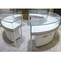 Quality Beautiful Round Lockable Jewelry Display Cases With 0.9 CBM / Pcs Volume wholesale