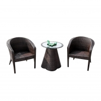 Buy cheap Modern Backyard Bistro Table And Chairs Set Glass Top Coffee Table from wholesalers