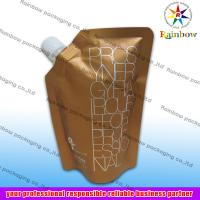 Quality side spout pouch packaging for drink, bottom gusset bag wholesale