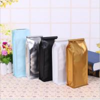 China 0.5lb 8oz Breathable Aluminum Foil Stand Up Pouch Mini Zipper Coffee Packaging Bag With Valve on sale