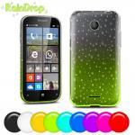 Quality Nokia Lumia 435 4.0 inch Soft plastic TPU Cell Phone Case black white Purple wholesale