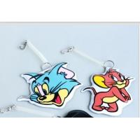 China Full Color Rubber Luggage Tags , Personalised Suitcase Tags Plastic on sale