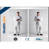 Quality Waterproof Insulated Disposable Protective Coveralls , Full Body Cleaning SuitCE FDA wholesale