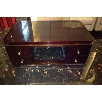 Quality Rectangle Hotel Coffee Table Classical Style High Gloss Ebony Wood Veneer Material wholesale