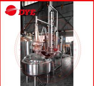 Quality 500L Custom Steam Heating Reflux Still , Vodka Distillation Equipment wholesale