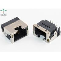 China Through Hole 8 Pin RJ45 Connector Female Crimp Terminal Right Angle For Ethernet Router on sale