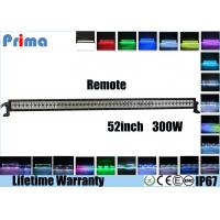 Quality 52 Inch 300W Remote Control LED Light Bar Double Row Straight Color Changing Type wholesale