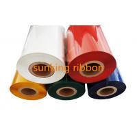 Quality TTR Color Barcode Printing Ribbon Thermal ink Ribbons 110mm 300m Wax Resin Ribbon wholesale