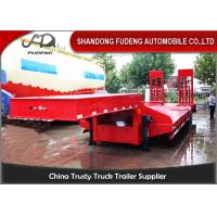 Quality Custom Low Bed Trailer Transporter , Tri Axle 80 Ton Gooseneck Low Bed Trailer wholesale