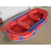 Quality Red Inflatable Rafting Boat , Inflatable Dinghy Boat For Fishing Or River wholesale