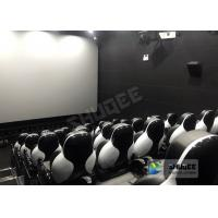Quality Customize Seats 5D Theater System Leather And Fiberglass Material wholesale