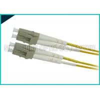 Quality Yellow 3.0mm Fiber Optic LC to LC Zipcord Singlemode SMF Patch Lead Assembly wholesale