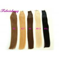 China 100% Remy Tape In Hair Extensions 16' To 26 Long 1B Black Light Blonde Colors on sale
