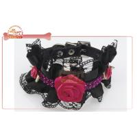 Quality Cutely colorful lace flower designer DIY Dog Collar with Gorgeous pearl wholesale