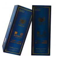 Quality High-End Gift Bottle Packaging Box For Wine, Foil Stamping / Embossed Card Paper Wine Packaging Boxes wholesale