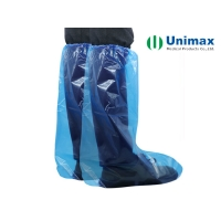 China Waterproof  Oil-proof  Liquid-proof Disposable  High Knee PE Boot Cover on sale