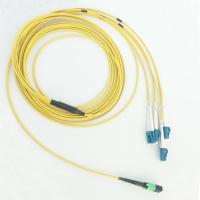 Quality Single Mode 3.0mm Fan Out Cable , Duplex Mpo To Lc Cable LSZH Material wholesale