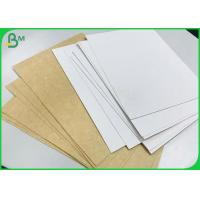 China 325 Gram Single White Coated Kraft Paper Board For Disposable Food Takeaway Box on sale
