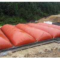 Buy cheap 1.5mm PVC Coated Tarpaulin 1000 Tons Red - Mud Membrane Biogas Bladder from wholesalers