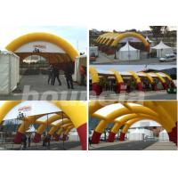 Quality 30*15m Inflatable Paintball Arena With Professional Paintball Netting For Paintball Game wholesale