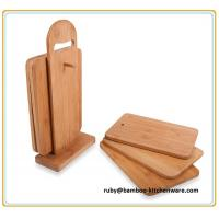 Cheap 6Pcs Bamboo Wood Chopping Board Stand Set for sale