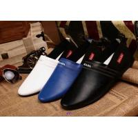 China Sell Hot&top grade 2014 Fashion P-rada designer breathable low leisure men's leather shoes on sale