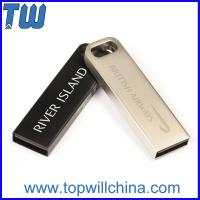 Stainless Metal 32GB 64GB Usb Thumb Drive for Business Man with Key Chain