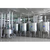 Quality 1000L/H Plastic Bottle Package Yogurt Processing Line With Raw Milk Testing wholesale