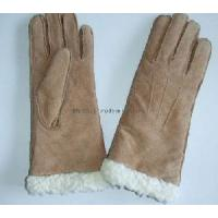 Quality Fashion Pig Suede Gloves with Artificial Wool (55M044) wholesale