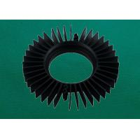 Cheap Sunflower Shape Black Fin Extruded Aluminum Heat Sink For LED for sale