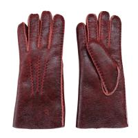 Quality Christmas Gift Stock Merino Lamb fur Shearling Sheepskin Gloves for Women wholesale