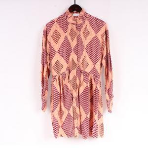 China Solid Colors Women Viscose Rayon Tunic Shirt Dress on sale