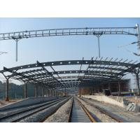 China Railway Station Structural Metal Truss Buildings, Rust-proof Painting with 2-4 Layers on sale