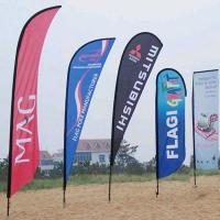 Quality Durable custom feather flags double sided Full Color Imprints wholesale