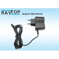 Cheap 50Hz / 60Hz EU Plug 5V 1000mA Ac To Dc Power Adapter With 1.2M DC Cable for sale