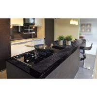 Quality Granite Countertops In Kitchen , Agatha Black Granite Countertop Polish Finished wholesale