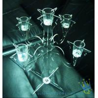 Quality CH (37) tall Acrylic pillar candle holders wholesale