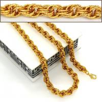 Quality 18K Real Gold Plated Big Size Chunky Link Chain Women/ Men Necklaces & bangle Fashion wholesale